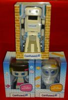 Confused.Com Full Set of 3 Toy Robots: Brian, Stunt Herbert & Miss Herbert